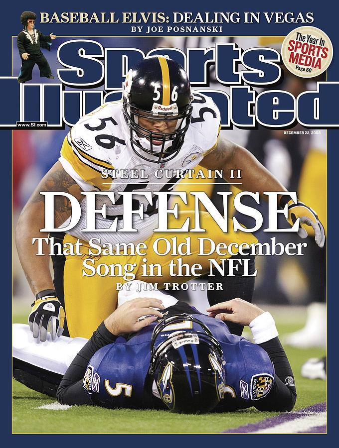 Pittsburgh Steelers Lamarr Woodley... Sports Illustrated Cover Photograph by Sports Illustrated