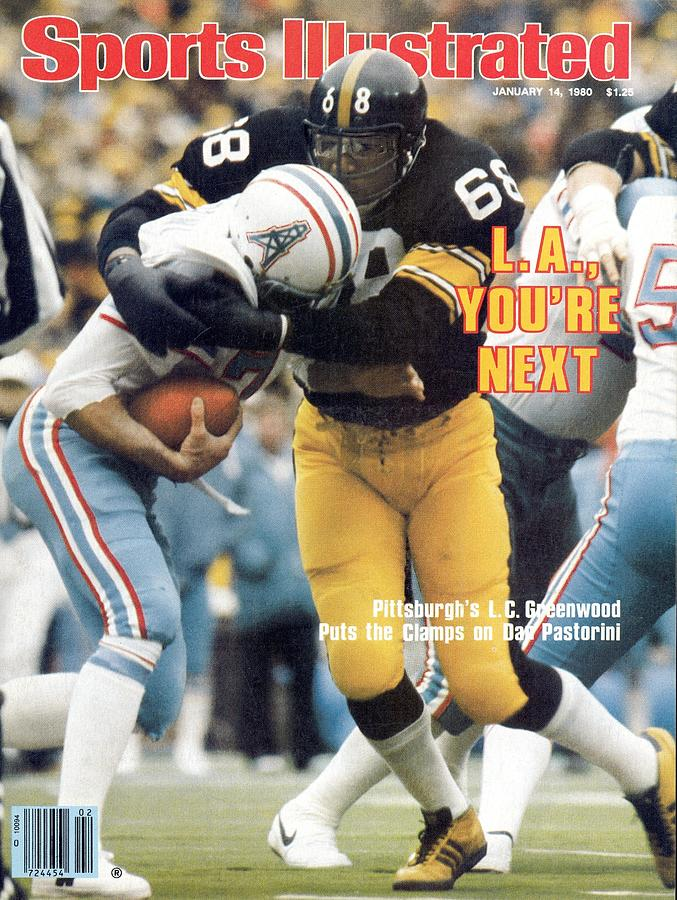 Pittsburgh Steelers L.c. Greenwood, 1980 Afc Championship Sports Illustrated Cover Photograph by Sports Illustrated