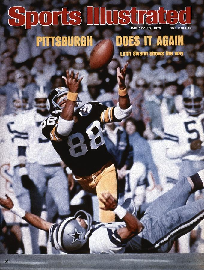 Pittsburgh Steelers Lynn Swann, Super Bowl X Sports Illustrated Cover Photograph by Sports Illustrated