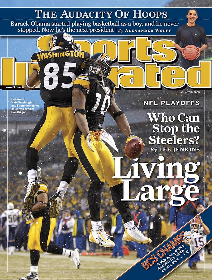 Pittsburgh Steelers Nate Washington And Santonio Holmes Sports Illustrated Cover Photograph by Sports Illustrated