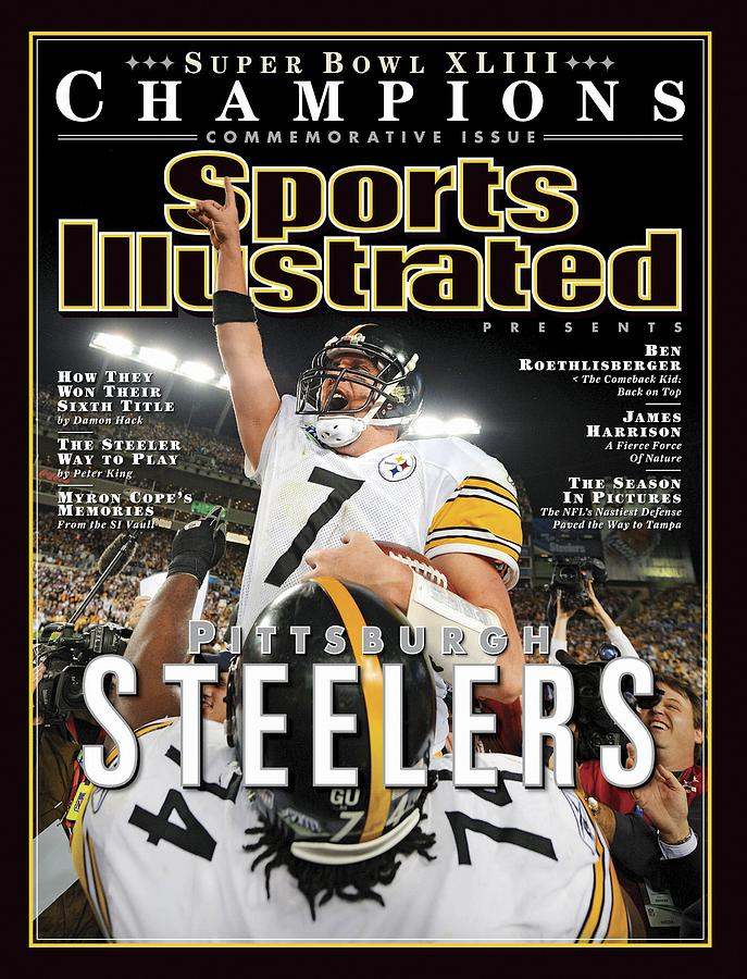 Pittsburgh Steelers Qb Ben Roethlisberger, Super Bowl Xliii Sports Illustrated Cover Photograph by Sports Illustrated