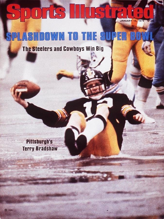 Pittsburgh Steelers Qb Terry Bradshaw, 1979 Afc Championship Sports Illustrated Cover Photograph by Sports Illustrated
