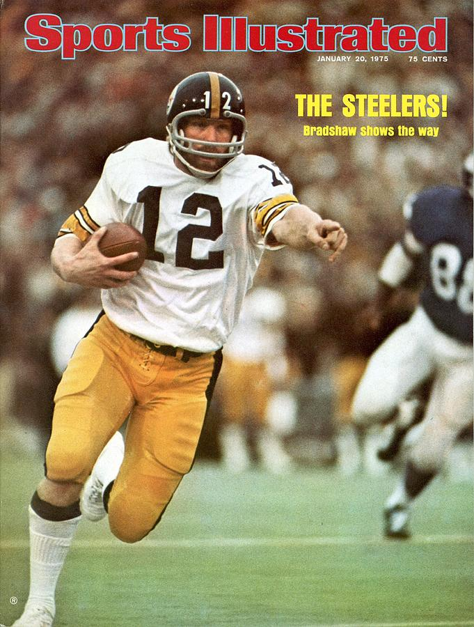 Pittsburgh Steelers Qb Terry Bradshaw, Super Bowl Ix Sports Illustrated Cover Photograph by Sports Illustrated