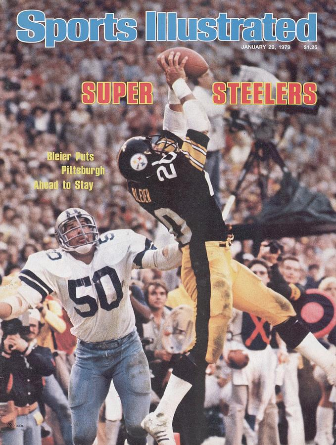 Pittsburgh Steelers Rocky Bleier, Super Bowl Xiii Sports Illustrated Cover Photograph by Sports Illustrated