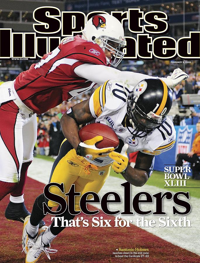 Pittsburgh Steelers Santonio Holmes, Super Bowl Xliii Sports Illustrated Cover Photograph by Sports Illustrated