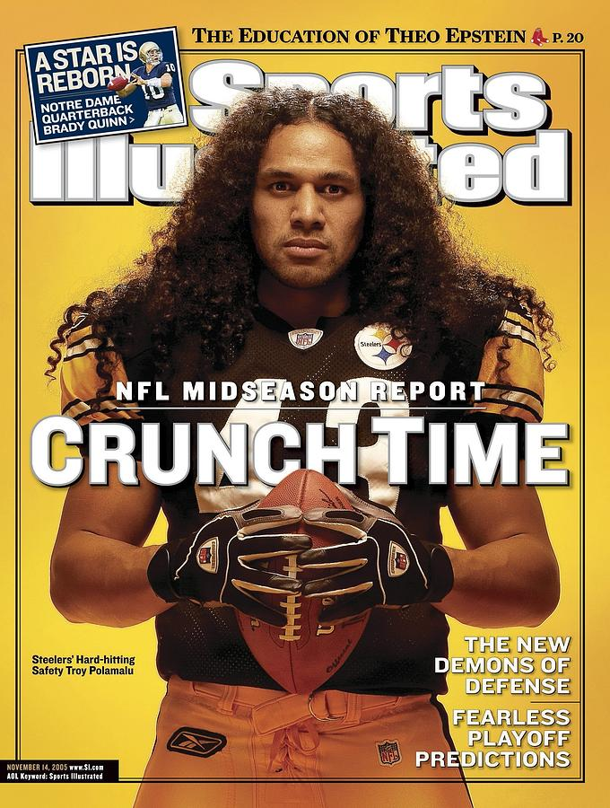 Pittsburgh Steelers Troy Polamalu Sports Illustrated Cover Photograph by Sports Illustrated