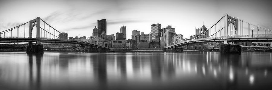 Pittsburgh Winter Panorama by Matt Hammerstein