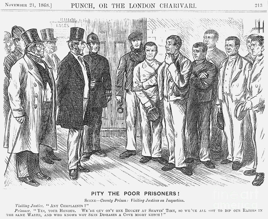 Pity The Poor Prisoners, 1868. Artist Drawing by Print Collector