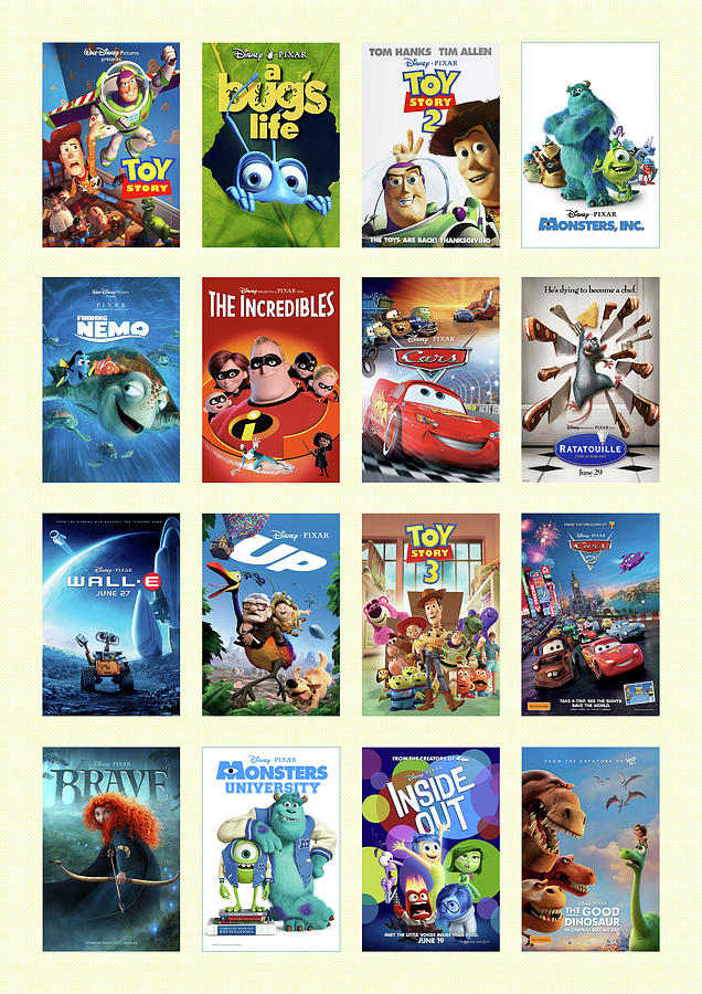 Pixar Movies Digital Art By Denny H