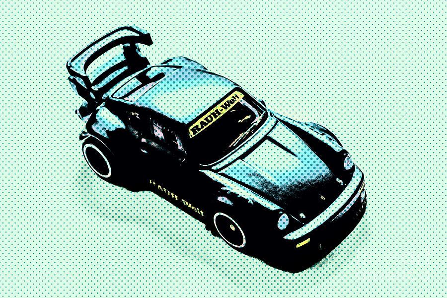 Comic Photograph - Pixel Porsche by Jorgo Photography - Wall Art Gallery