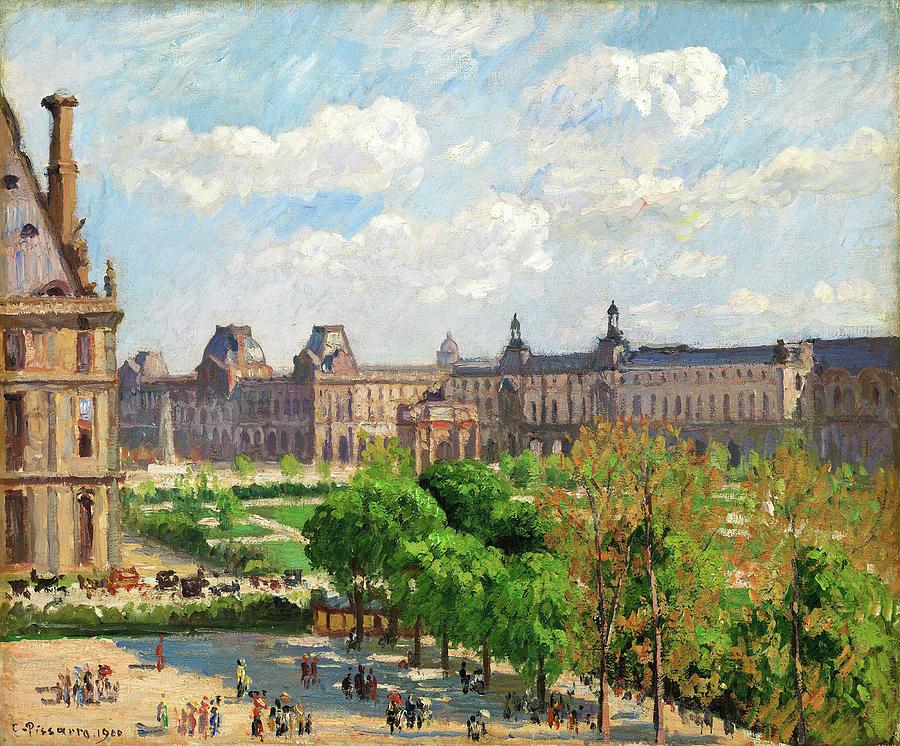 Place Du Carrousel Painting - Place Du Carrousel, Paris - Digital Remastered Edition by Camille Pissarro