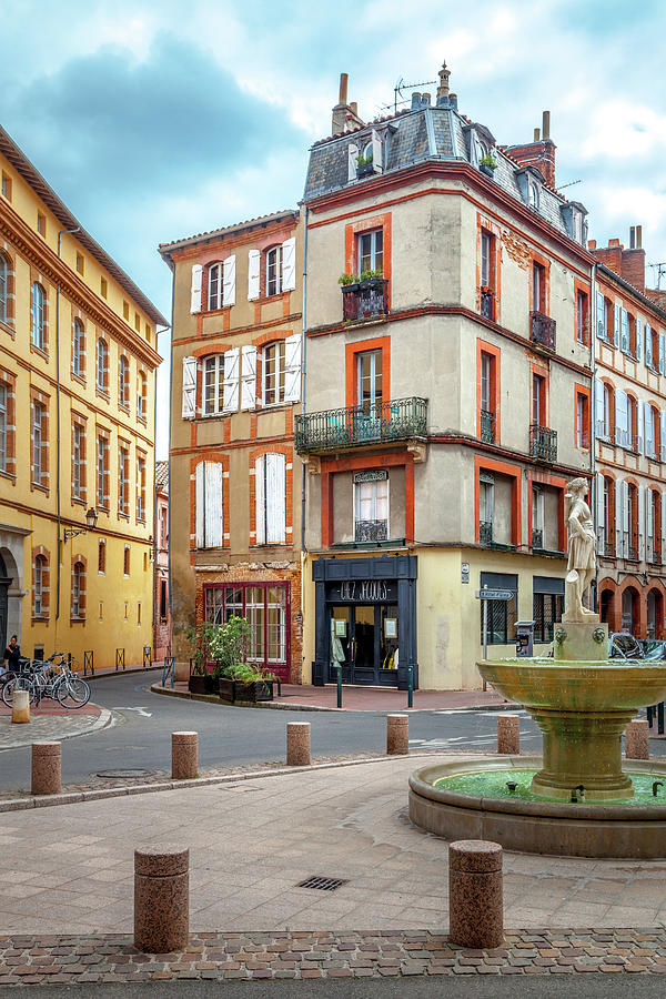 Europe Photograph - Place Saintes-scarbes by W Chris Fooshee