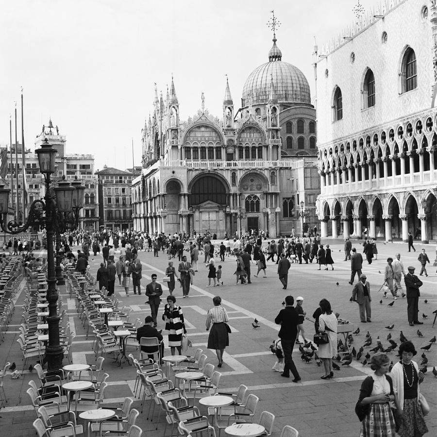 Place, San Marco Place At Venise In Photograph by Keystone-france