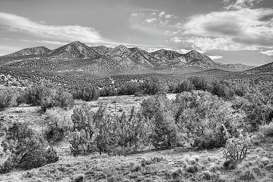 New Mexico Photograph - Placer Mountain Black And White by JC Findley