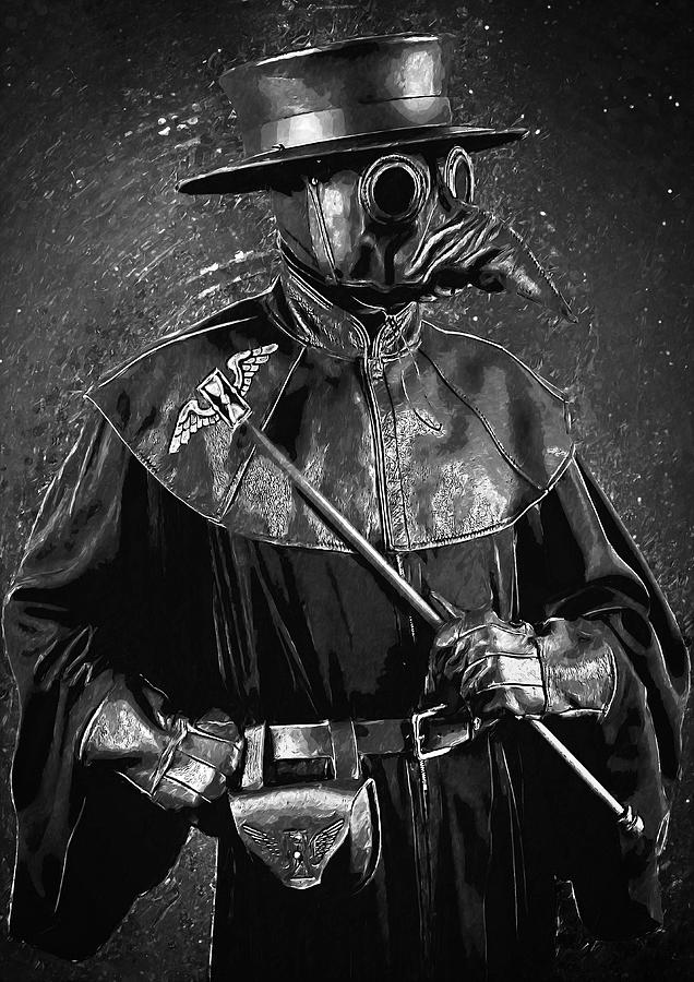 Plague Doctor Digital Art