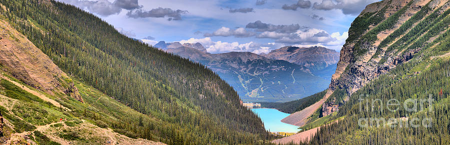 Plain Of Six Glaciers Panorama 2019 by Adam Jewell
