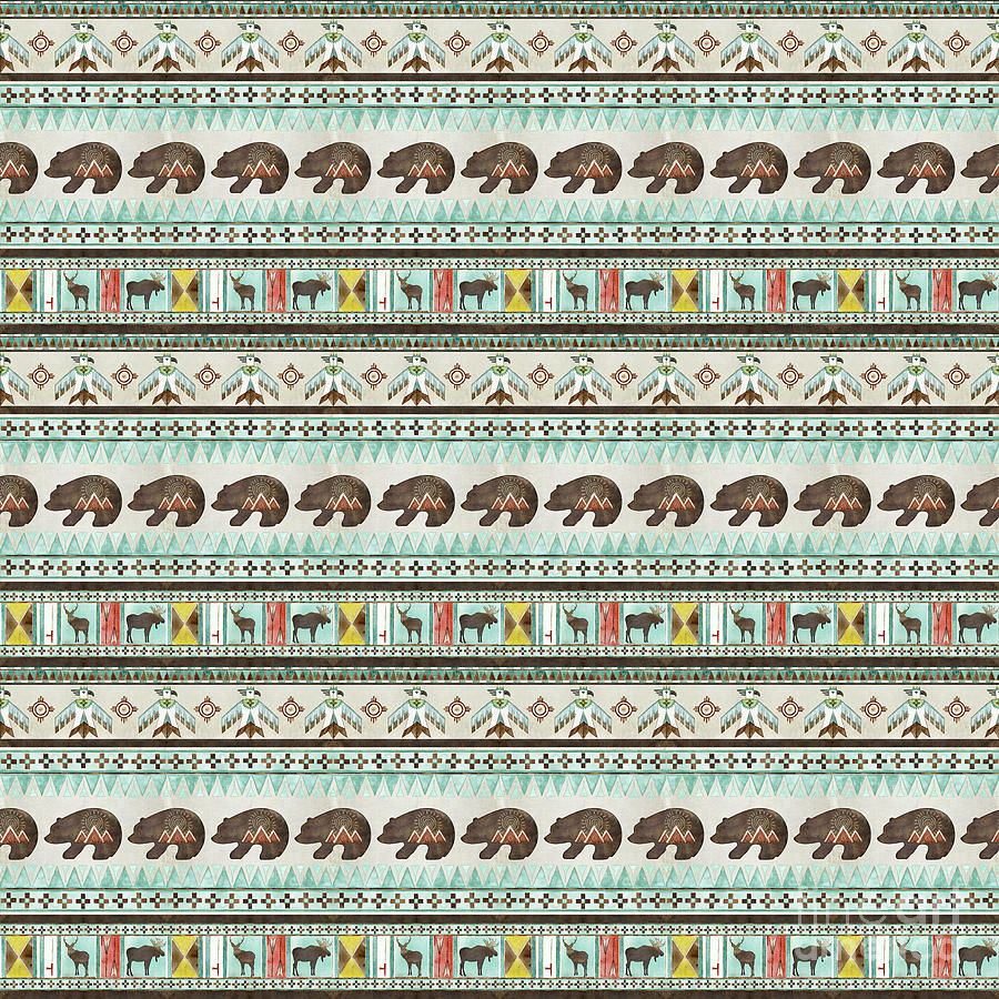 Plains Indian Motif Pattern Home Decor by Audrey Jeanne Roberts