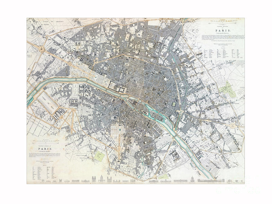 Plan of Paris by Unknown