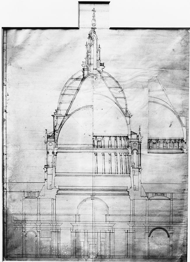 Plan Of St Pauls Photograph by Topical Press Agency