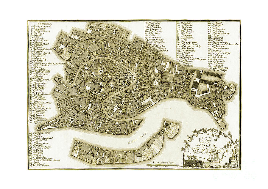 Plan of the city of Venice by Unknown
