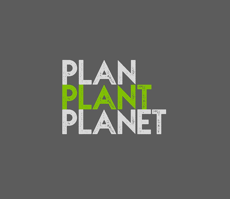 Plan Plant Planet - green and gray standard spacing by Charlie Szoradi
