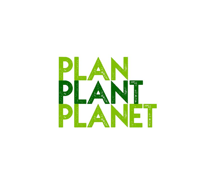 Plan Plant Planet - two greens standard spacing by Charlie Szoradi