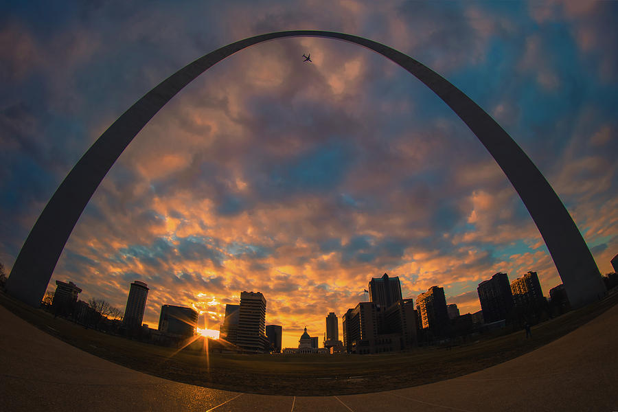 Plane above the St. Louis Arch by Jay Smith