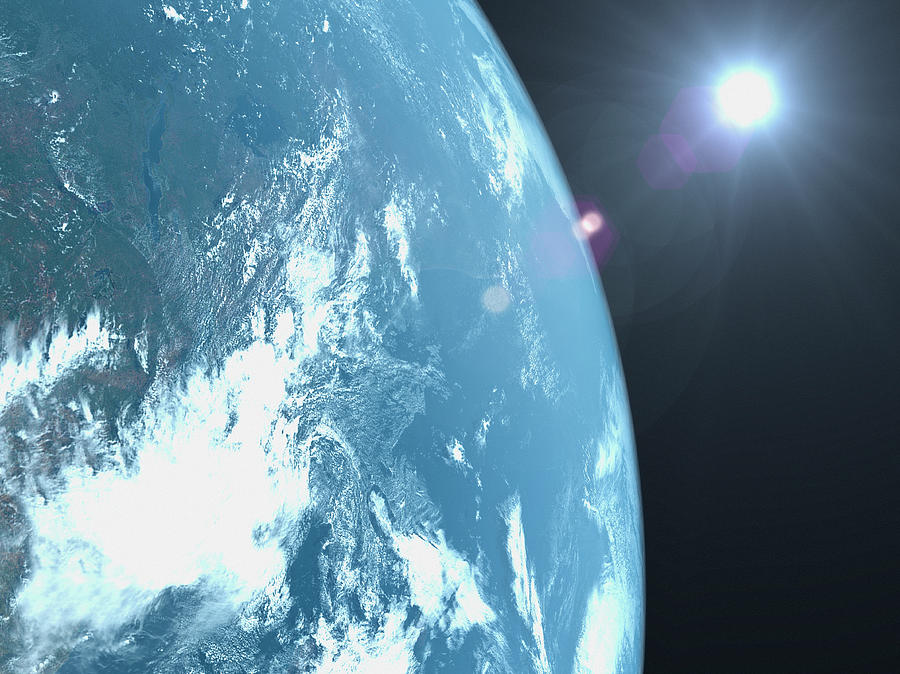 Planet Earth, Satellite View Photograph by Caspar Benson