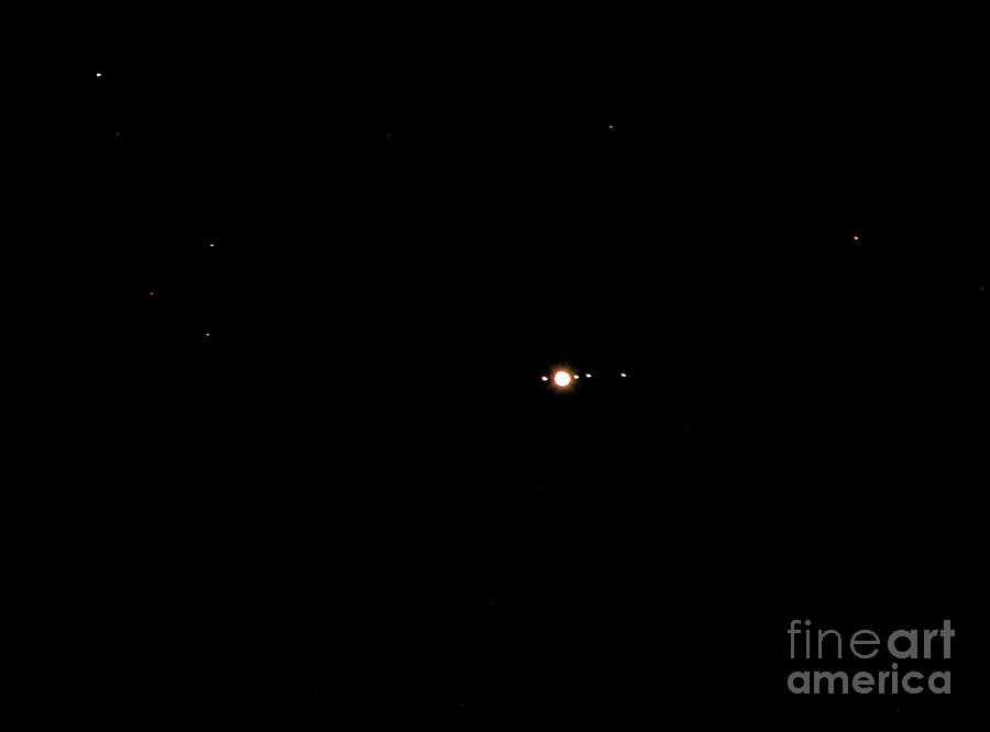 Planet Jupiter and Four Moons by Kevin McCarthy