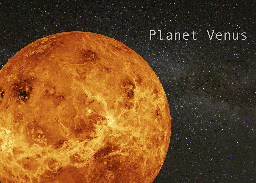 Planet Venus with Milky Way Background by Karen Foley