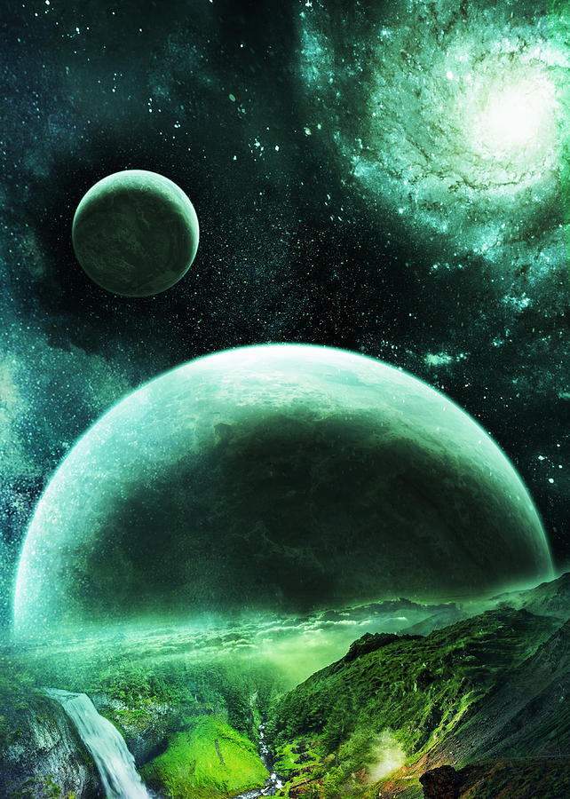 Space Digital Art - Planetrise by Visions Beyond