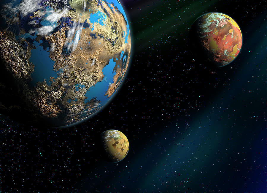 Planets, An Artistic Illustration Photograph by Soumen Nath Photography