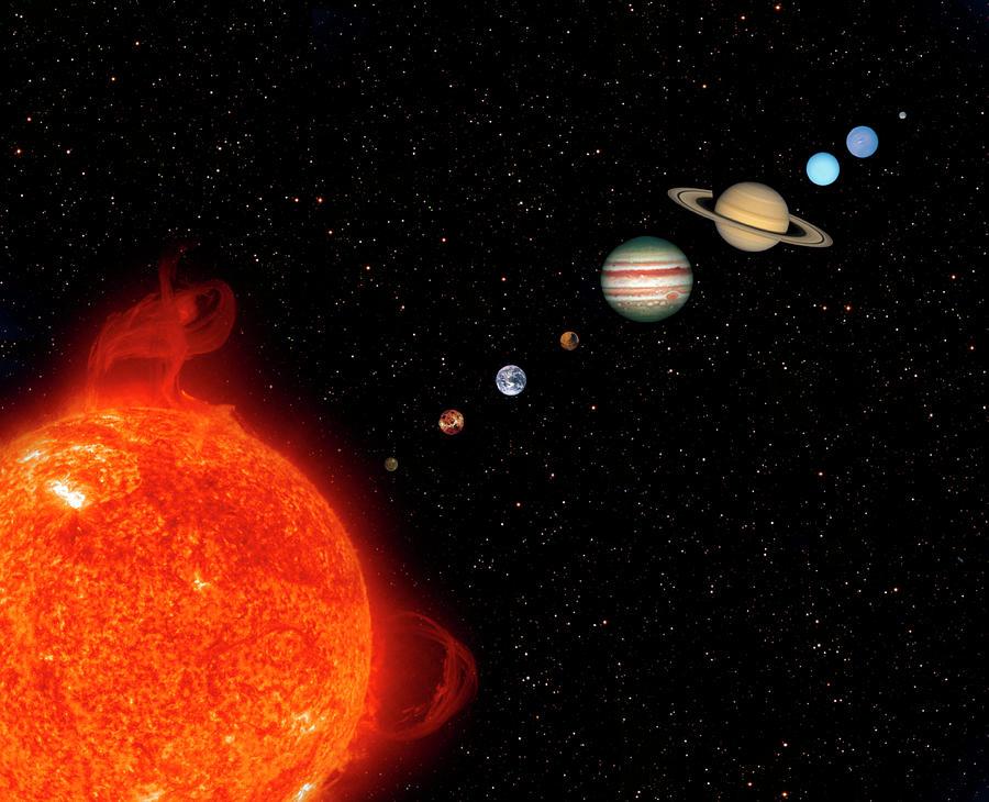 Planets Of The Solar System Digital Art by Steve Allen