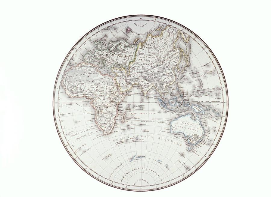 Planispheric Map Of The Eastern Digital Art by Fototeca Gilardi