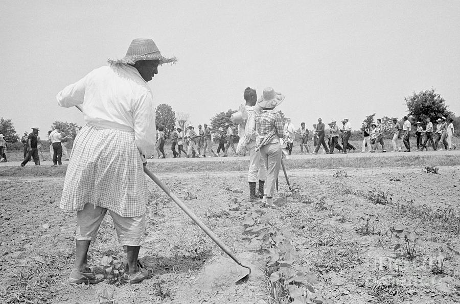 Plantation Workers Greeting Marchers Photograph by Bettmann