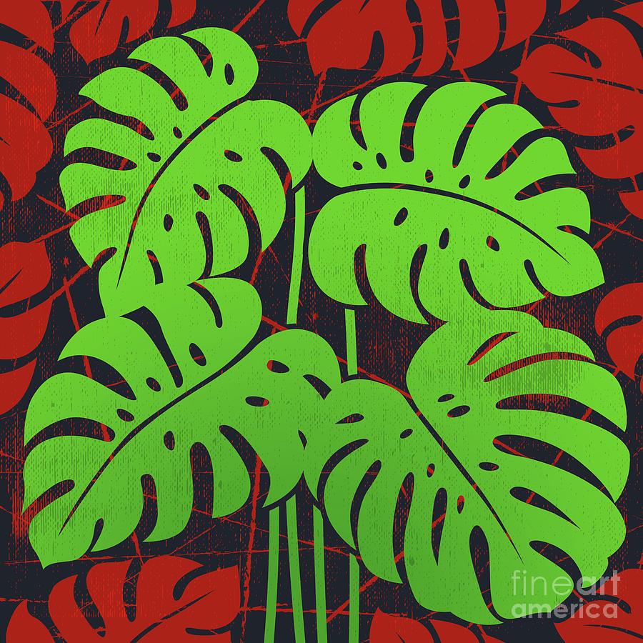 Plants - Philodendron#2_green Digital Art