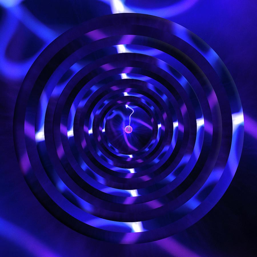 Plasma Ball Purple Circles by Pelo Blanco Photo