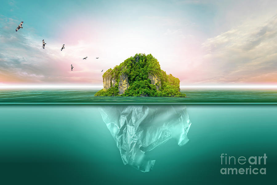 Plastic Pollution In Marine Photograph by Surasak Suwanmake