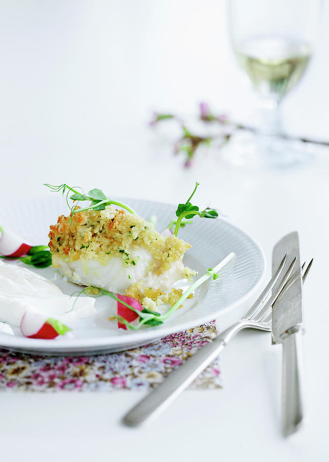 Plate Of Crusted Fish Photograph by Line Klein