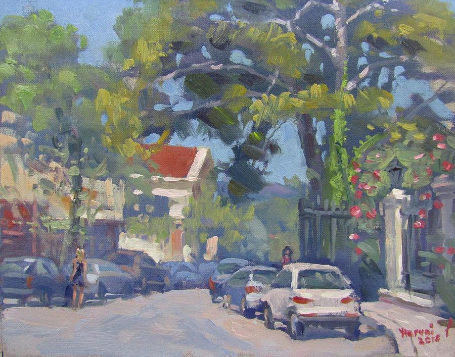 Street Painting - Plateia Kefalari Kifissia Athens by Ylli Haruni
