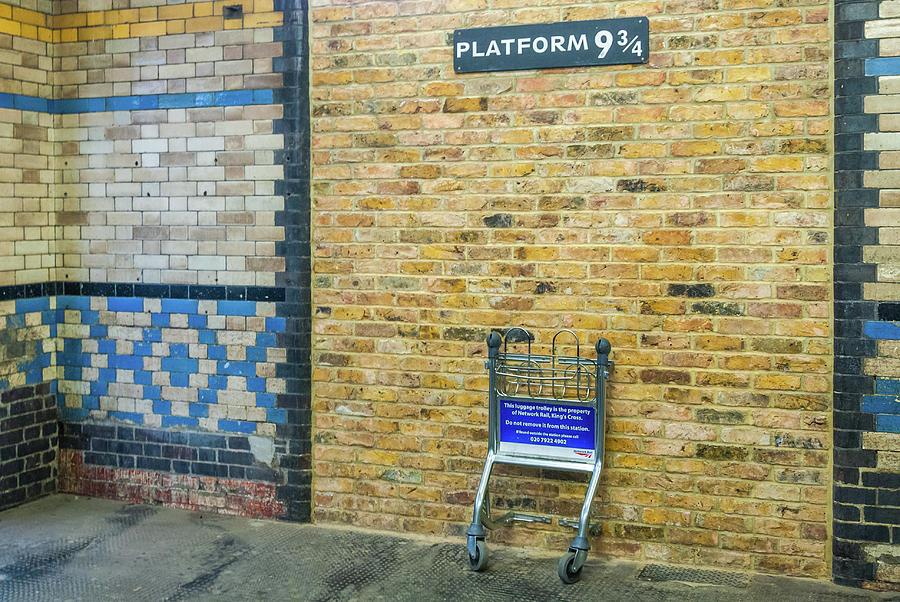 Harry Potter Photograph - Platform 9 3/4, Kings Cross Station, London by David Ross