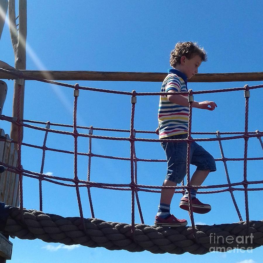 Play Bridge Blue Sky by Joan-Violet Stretch