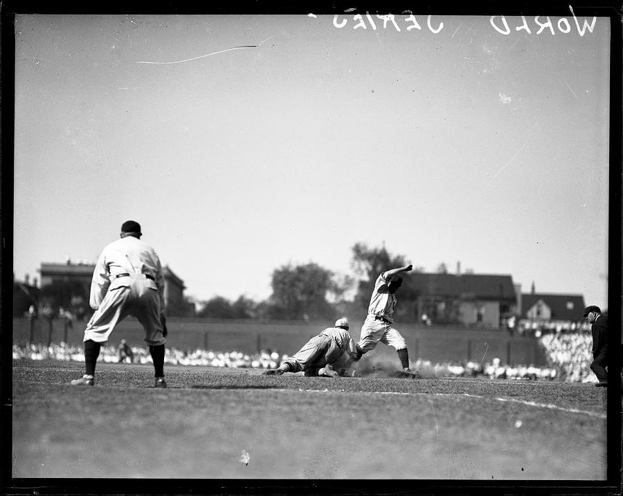 Play During The 1929 World Series Photograph by Chicago History Museum