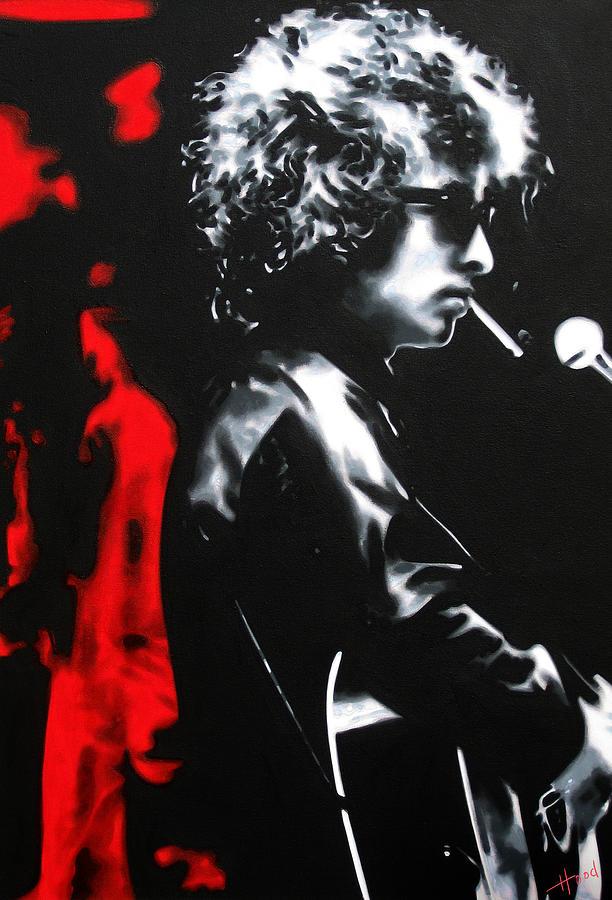 Bob Dylan Painting - Play It Fuckin Loud by Hood alias Ludzska