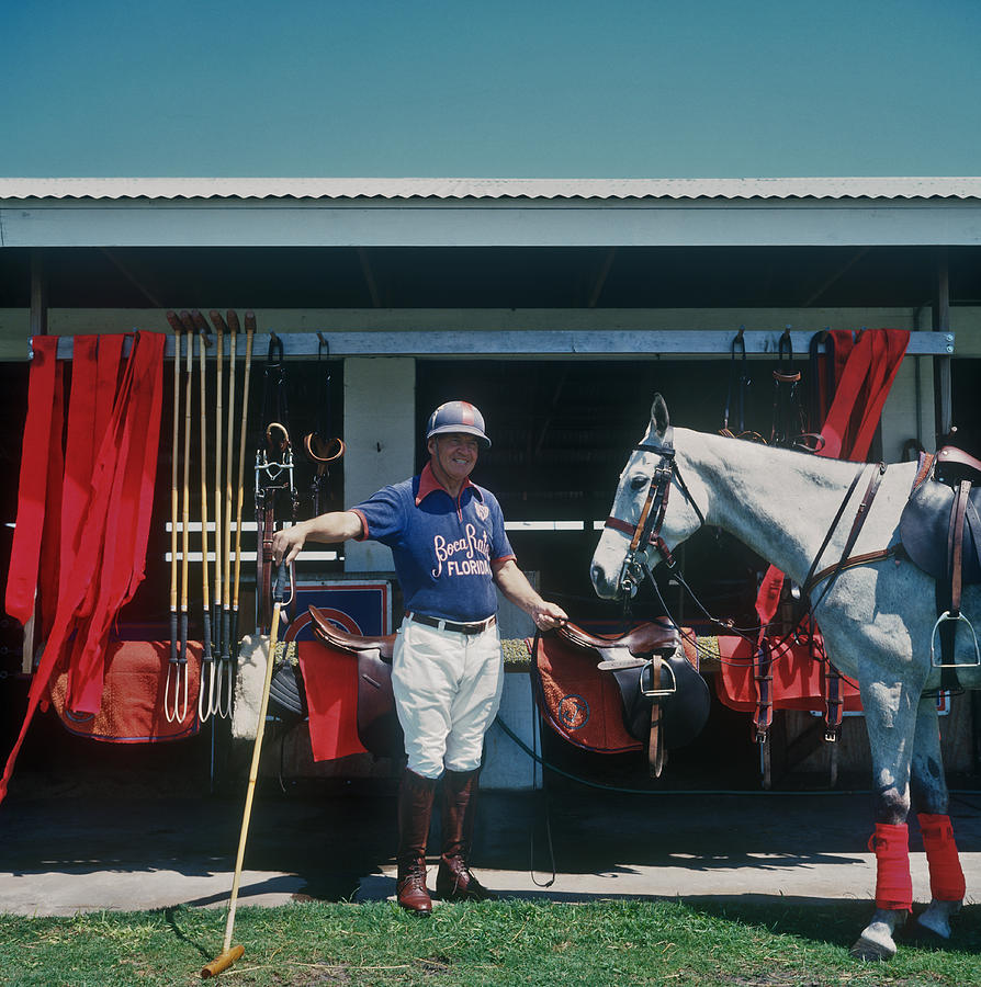 Player And Mount Photograph by Slim Aarons