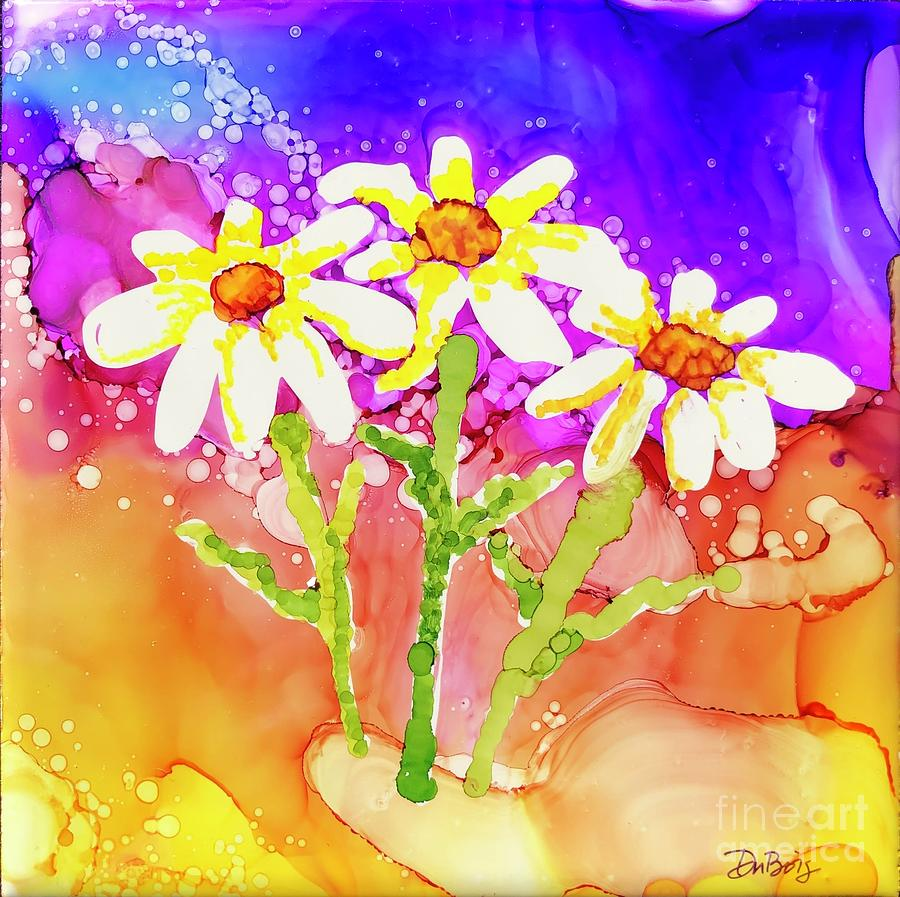 Playful Daisies by Lisa DuBois