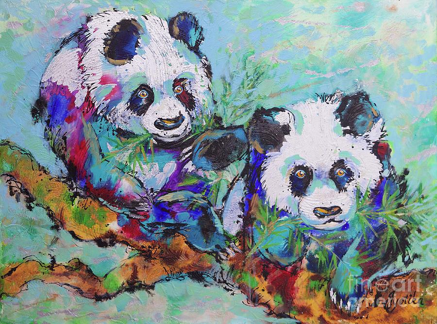 Playful Giant Pandas  by Jyotika Shroff