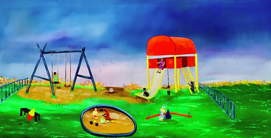 The joys of a playground by Mary Rimmell