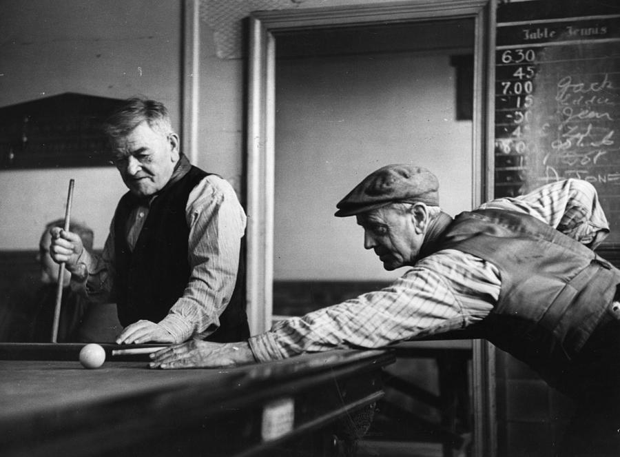 Playing Pool Photograph by Bert Hardy