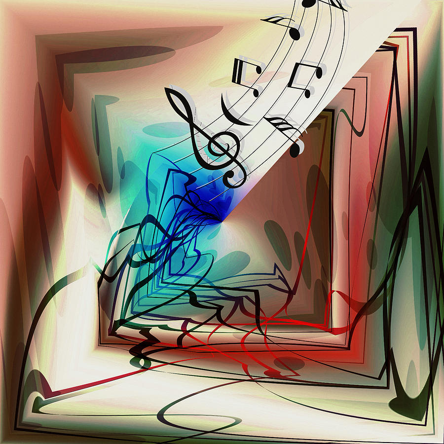 Playing The Piano Abstract by Robert G Kernodle